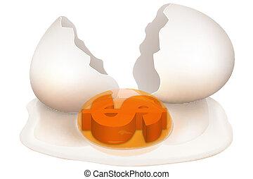 crashed dollar egg