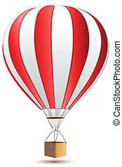 air balloon - illustration of air against white background