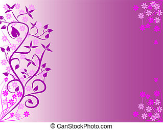 An abstract mauve floral design