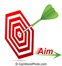 target board - illustration of target board with arrow on...