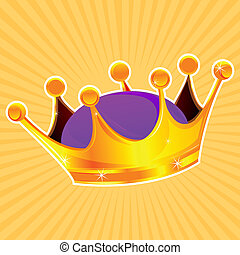 golden crown - illustration of golden crown
