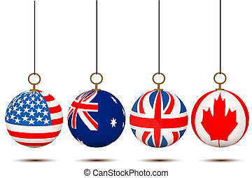 hanging country flag balls
