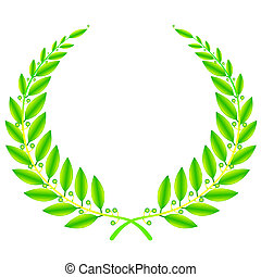 wreath sign - illustration of wreath sign on white...