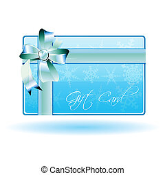 gift card - illustration of gift card on white background