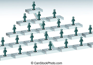 organization chart - illustration of organization chart on...