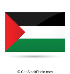 palestine flag - illustration of palestine flag on white...