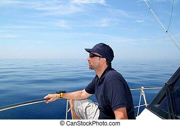 azul, Navegación, Océano, agua, marinero, calma, barco,...