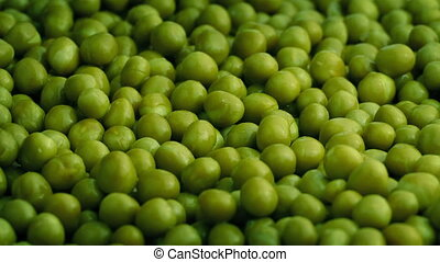 Bowl Of Green Peas Rotating - Lots of green peas turning...