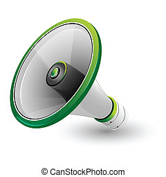 loud speaker - illustration of loud speaker on white...