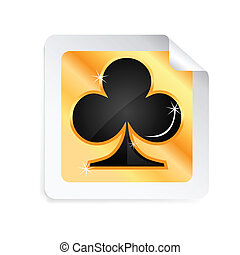 playing card - illustration of playing card on white...