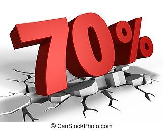 3d of 70 percent discount - 3d illustration of 70 percent...