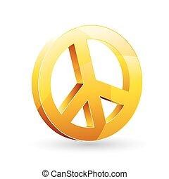 peace sign - illustration of peace sign on white background