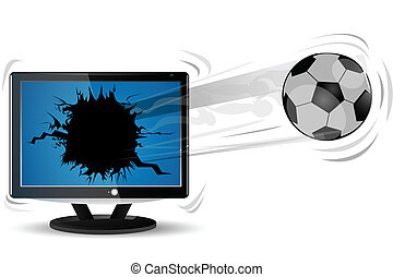 football with tv