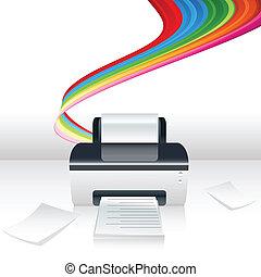 computadora, impresora