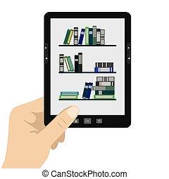 portable modern tablet e-book reader. - Vector illustration...