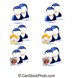 set of human icons