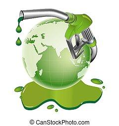 bio diesel - illustration of bio diesel drum on white...