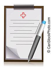 penna, vaddera, brev, Läkare
