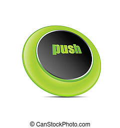 push button - illustration of push button on white...
