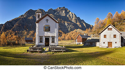 Little Church in the ancient village - Small church in...