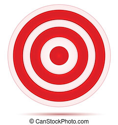 target board - illustration of target board on white...