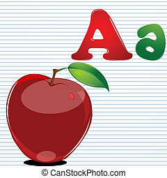 a for apple