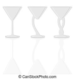 wineglass - Abstract vector illustration of logo for...