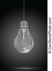 hanging electric bulb - illustration of hanging electric...