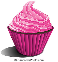 strawberry ice cream - illustration of strawberry ice cream...