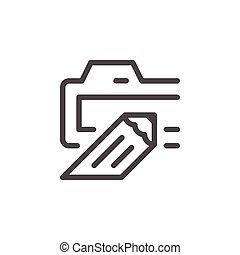 Domain line icon isolated on white. Vector illustration