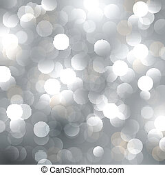 Christmas blured silver background with ligts. Vector...
