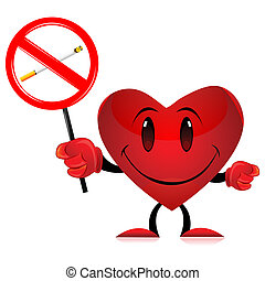 devil heart with no smoking tag