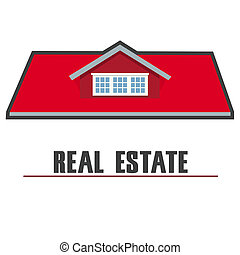 real estate - illustration of real estate on white...