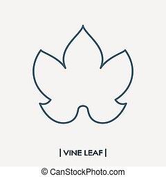 Vine leaf outline icon. Grape leaf