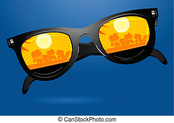 sunny goggle - illustration of sunny goggle on white...