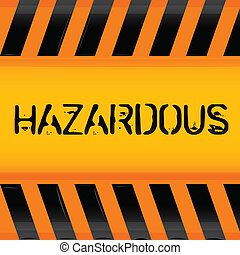 hazardous icon - illustration of hazardous icon