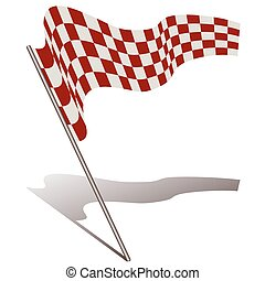 racing flag - illustration of racing flag on white...
