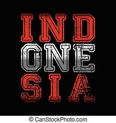indonesia word text pride of national ideology vector