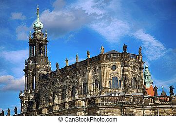 Katholische Hofkirche, Dresden, State of Saxony, Germany -...