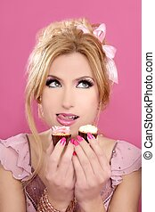 fashion gluttony barbie doll style blonde sweets greed -...