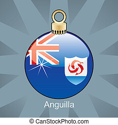 Anguilla flag in christmas bulb