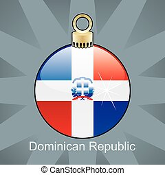 Dominican Republic flag - fully editable vector illustration...