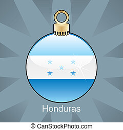 Honduras flag in christmas bulb - fully editable vector...