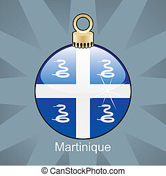 Martinique flag in christmas bulb