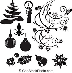 Christmas selection silhouettes