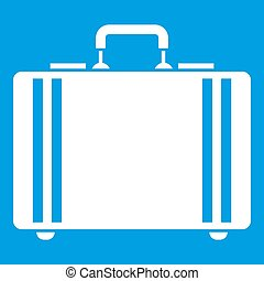 Diplomat icon white isolated on blue background illustration...