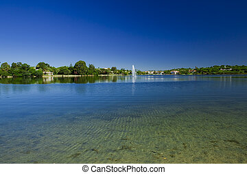 Beautiful lagoon - Landscape picture of a beautiful...