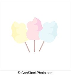Sweet cotton candy - Vector illustration sweet pink, orange...
