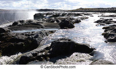 Selfoss waterfall in Iceland - Selfoss is a waterfall on the...