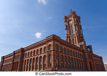 Townhall - Berlins townhall Rotes Rathaus at Alexanderplatz...